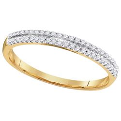 10K Yellow-gold 0.15CTW DIAMOND FASHION BAND