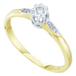 10KT Yellow Gold 0.06CTW DIAMOND BRIDAL RING
