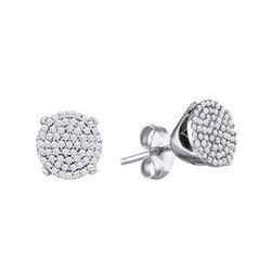 10KT White Gold 0.125CTW DIAMOND MICRO-PAVE EARRING