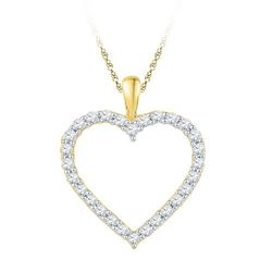 10K Yellow-gold 0.25CTW DIAMOND FASHION PENDANT