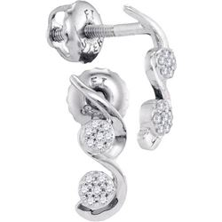 10KT White Gold 0.08CTW DIAMOND MICRO-PAVE EARRINGS