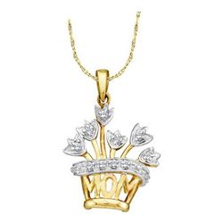"10KT Yellow Gold ""MOM"" DIAMOND PENDANT"