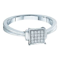 10KT White Gold 0.05CTW DIAMOND MICRO PAVE RING