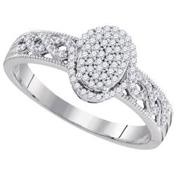 10KT White Gold 0.25CT DIAMOND BRIDAL RING