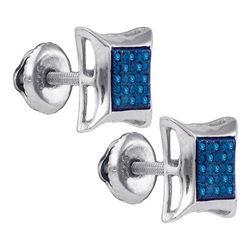 925 Sterling Silver White 0.07CT DIAMOND MICRO-PAVE EAR