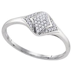 10KT White Gold 0.10CTW DIAMOND FASHION RING