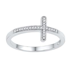 10KT White Gold 0.06CTW DIAMOND FASHION RING