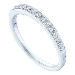 14KT White Gold 0.12CTW DIAMOND FASHION BAND