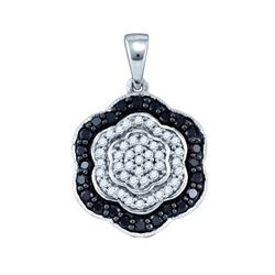 10KT White Gold 0.51CTW DIAMOND FASHION PENDANT