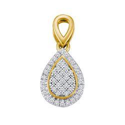 10KT Yellow Gold Two Tone 0.12CTW DIAMOND MICRO PAVE PE