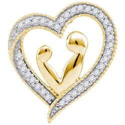10K Yellow-gold 0.10CTW DIAMOND HEART PENDANT