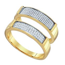 10KT Yellow Gold 0.34CTW DIAMOND MICRO PAVE DUO SET