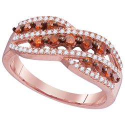 10KT Rose Gold 0.60CTW RED DIAMOND FASHION RING