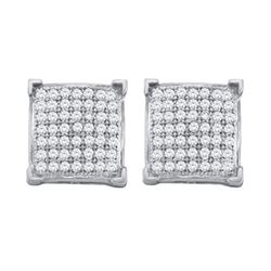 10KT White Gold 0.33CTW DIAMOND MICRO PAVE EARRINGS