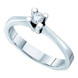 14KT White Gold 0.10CTW DIAMOND BRIDAL RING