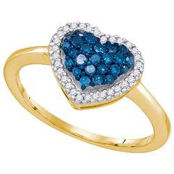 10K Yellow-gold 0.33CTW DIAMOND HEART RING