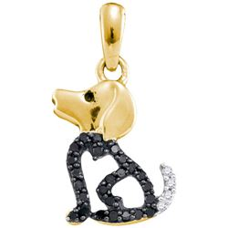 10K Yellow-gold 0.13CTW DIAMOND FASHION PENDANT