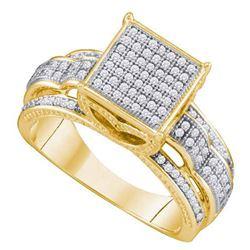 10K Yellow-gold 0.40CT DIAMOND LADIES MICRO PAVE RING