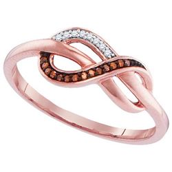 10KT Rose Gold 0.05CTW-Diamond FASHION RING