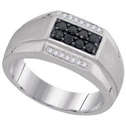 10KT White Gold 0.42CTW DIAMOND MENS FASHION RING