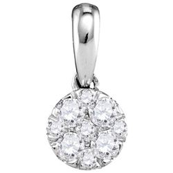 14KT White Gold 0.25CTW-Diamond LARISSA PENDANT