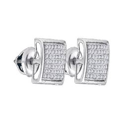 925 Sterling Silver White 0.33CT DIAMOND MICRO-PAVE EAR