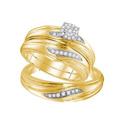 Sterling Silver Natural Diamond Yellow-tone His & Hers