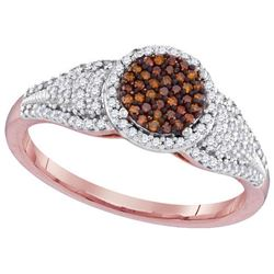 10KT Rose Gold 0.33CTW DIAMOND MICRO-PAVE BRIDAL RING