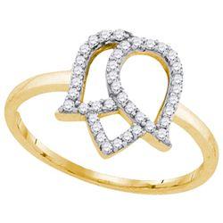 10K Yellow-gold 0.22CTW DIAMOND FASHION RING
