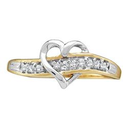 10KT Yellow Gold 0.05CTW DIAMOND HEART RING