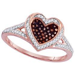 10KT Rose Gold 0.20CTW DIAMOND MICRO-PAVE RING