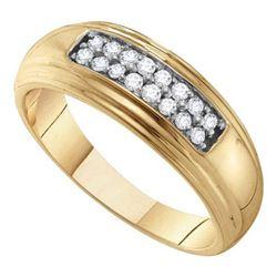 10K Yellow-gold 0.25CT DIAMOND FASHION BAND