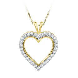 10K Yellow-gold 0.25CTW DIAMOND FASHION PENDANT