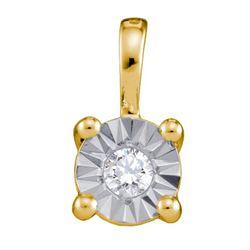 10K Yellow-gold 0.10CT DIAMOND CIRCLE PENDANT