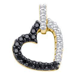 14KT Yellow Gold 0.26CTW DIAMOND HEART PENDANT