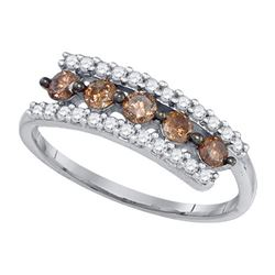 10KT White Gold 0.62CT DIAMOND FASHION RING