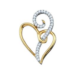 10KT Yellow Gold 0.10CTW DIAMOND HEART PENDANT