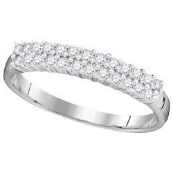 10KT White Gold 0.30CTW DIAMOND FASHION RING