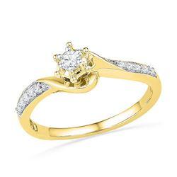 10K Yellow-gold 0.16CTW DIAMOND FASHION RING