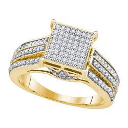 10KT Yellow Gold 0.55CTW DIAMOND MICRO-PAVE BRIDAL SET