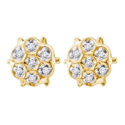 10K Yellow-gold 0.04CTW DIAMOND FASHION EARRINGS