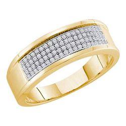 10KT Yellow Gold 0.25CTW DIAMOND MICRO PAVE BAND