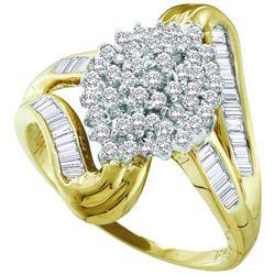 10KT Yellow Gold 0.50CTW-DIAMOND FASHION RING