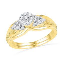 10K Yellow-gold 0.33CTW DIAMOND FAHSION BRIDAL SET
