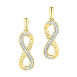10K Yellow-gold 0.10CTW DIAMOND FASHION EARRINGS