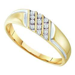 10KT Yellow Gold 0.12CTW DIAMOND FASHION MENS RING