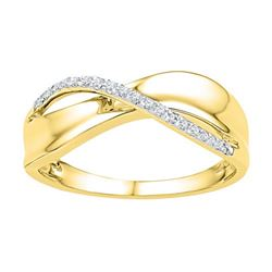 10K Yellow-gold 0.06CTW DIAMOND FASHION RING