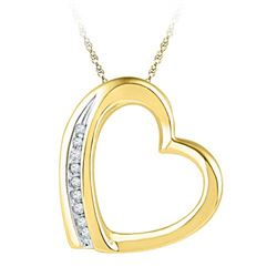 10K Yellow-gold 0.03CTW DIAMOND FASHION PENDANT