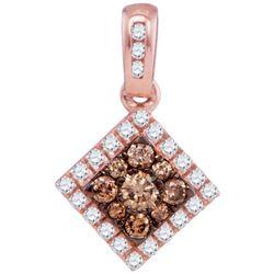 10KT Rose Gold 0.35CTW DIAMOND FASHION PENDANT