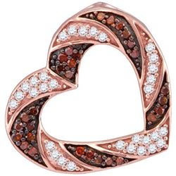 10KT Rose Gold 0.50CTW RED DIAMOND FASHION PENDANT